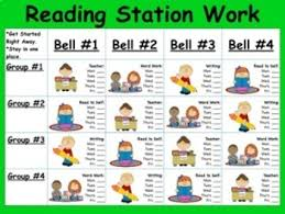 Reading Center Rotation Chart Reading And Math Rotation Chart Teaching Resources