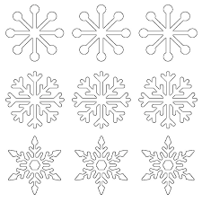 Free 8 Inch Star Template Point Quilt Printable Snowflake