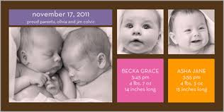 twin birth announcements photo cards birth announcement baby stuff pinterest twin girls twin birth