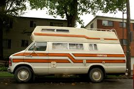 Camper Cars Old Parked Cars 1981 Dodge Ram 350 Royal Frontier Camper Van