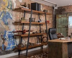industrial style home office. quickly becomes the focal point in any room these large sturdy industrial style shelves are ideal for displaying books home office