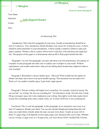 the basics of mla style mrs nayla example of mla style essay page