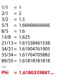 Resultado de imagen para numero de fibonacci