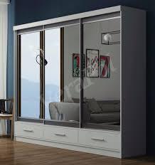 sliding door bedroom furniture. bedroom furniture modern sliding door full mirror wardrobe white arm with 2 drawers bedroom furniture