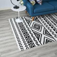5x8 area rugs geometric tribal rug in black and white menards canada clearance