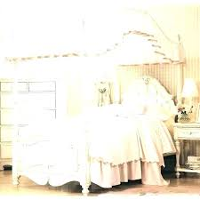 Full Size White Canopy Bed Twin Wood Canopy Bed White Wood Canopy ...