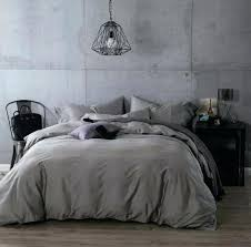 luxury dark grey cotton bedding sets sheets bedspread king queen size quilt duvet cover gray jersey