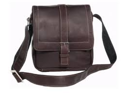 David King & Co 8469C Deluxe Medium <b>Messenger</b> with Buckle ...