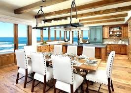 decoration dining room lighting for beach house chandeliers style with cottage wallpaper and wall covering