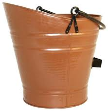 bucket for ashes from fireplace coal pellet bucket in antique copper finish traditional fireplace tools ash