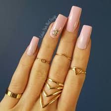 Light Pink Nails With Rhinestones Top 45 Amazing Light Pink Acrylic Nails