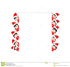 Children Dressed As Santa Claus Kids And Frame Stock Vector