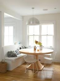 round table with bench seat like the round table but bench is nice banquette seating in round table with bench seat