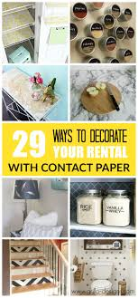covering furniture with contact paper. 29 Ways To Decorate Your Rental With Contact Paper Covering Furniture R