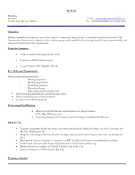 Resume Sample For Hr Fresher Over 10000 Cv And Resume Samples With