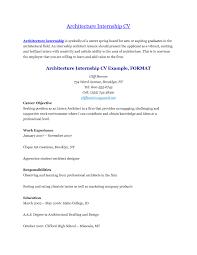 Architecture Intern Resumes 44 Resume Sample For Internship Resume Samples