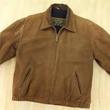 details about alexander julian wool lined leather jacket small tag brown zip front