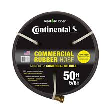 continental contitech premium 5 8 in dia x 50 ft commercial grade rubber black water hose