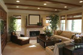 living room with tall houseplants and recessed lighting ceiling spacing led kit light bulbs costco trim home depot