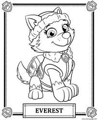 Print Paw Patrol Everest Coloring Pages Mancs Paw Patrol