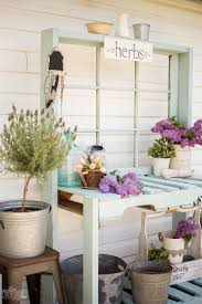 how to make a diy potting bench out of old pallets reclaimed wood and an