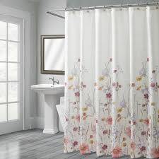 pressed flowers shower curtain