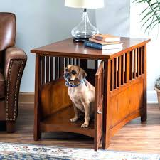end table kennel dog house end table pet crate furniture kennel cage wooden wood indoor bed