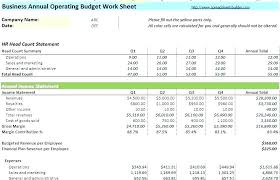 Excel Template For Business Startup Business Start Up Budget