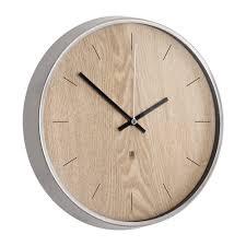 umbra madera wall clock natural nickel
