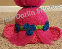Trolls Crochet Hat Pattern Inspiration Trolls Crochet Hat Etsy