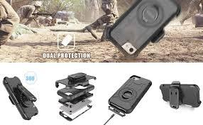 <b>Heavy Duty</b> Full Body <b>Rugged</b> Rotating Kickstand Swivel Ring Belt ...