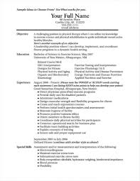 Exercise Science Resumes Rhthomasbosschercom S Resume Examples Exercise Science Fitness