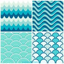 Free Patterns New Water Waves Retro Patterns Vector Free Download