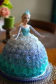 Elsa Doll Cake For A Frozen Themed Birthday Party Food.