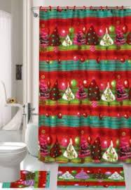 Christmas Holiday Shower Curtain Set Bathroom Sets \u2013 Curtains Plus