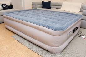 air mattress on bed frame. Beautiful Bed Our Pick The SoundAsleep Air Mattress Inflated In A Living Room Itu0027s Tall In Air Mattress On Bed Frame S