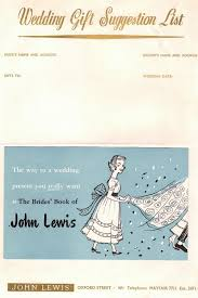 rsvpay the soaring cost of wedding gifts hits guests hard the sun Wedding Gift Card John Lewis vintage wedding gift suggestion list the brides' book of john lewis John Lewis Logo