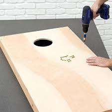 wooden bean bag toss fasten the game board top to the frame wooden pumpkin bean bag toss