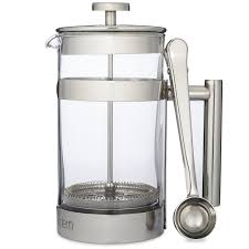 simple modern french press coffee tea maker   liter  double