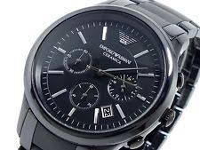 mens armani ceramic watch emporio armani ar1452 black ceramic matte men s watch rrp £399 00
