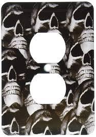 Gothic Skull Design 3drose Lsp_60816_6 A Gothic Skull Design 2 Plug Outlet Cover