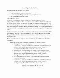 Mla Outline Format Unique 8 Research Paper Outline Templates Doc