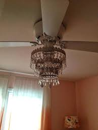 white ceiling fan with chandelier. white ceiling fan with chandelier light kit mess of the day ikea hack crystal bead pull chain l