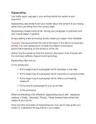 english writing transitions signposting signposting