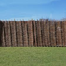 garden fencing. Click Image To Enlarge Willow Hurdle Decorative Woven Garden Fencing Panel 6ft X 3ft - (1.8m 0.9m