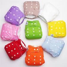 <b>Multi</b> colored <b>1 PCS Adjustable</b> Reusable Baby Infant Cloth Diapers ...