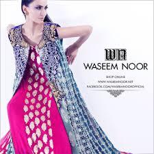 Waseem Noor Designer Waseem Noor Luxury Party Wear Dresses 2016