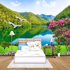3D Wallpaper HD Forest Mountain Lake ...