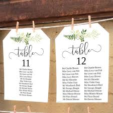 Rustic Greenery Wedding Seating Chart Diy Printable Table Plan Wedding Reception Hanging Seating Chart Templates 5x7 And 6x4 Inch