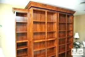 sliding bookcase murphy bed full size of sliding bookshelf bookcase plans rotating really want furniture wonderful